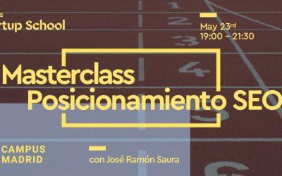 MasScience.  Masterclass Posicionamiento SEO en Campus Madrid