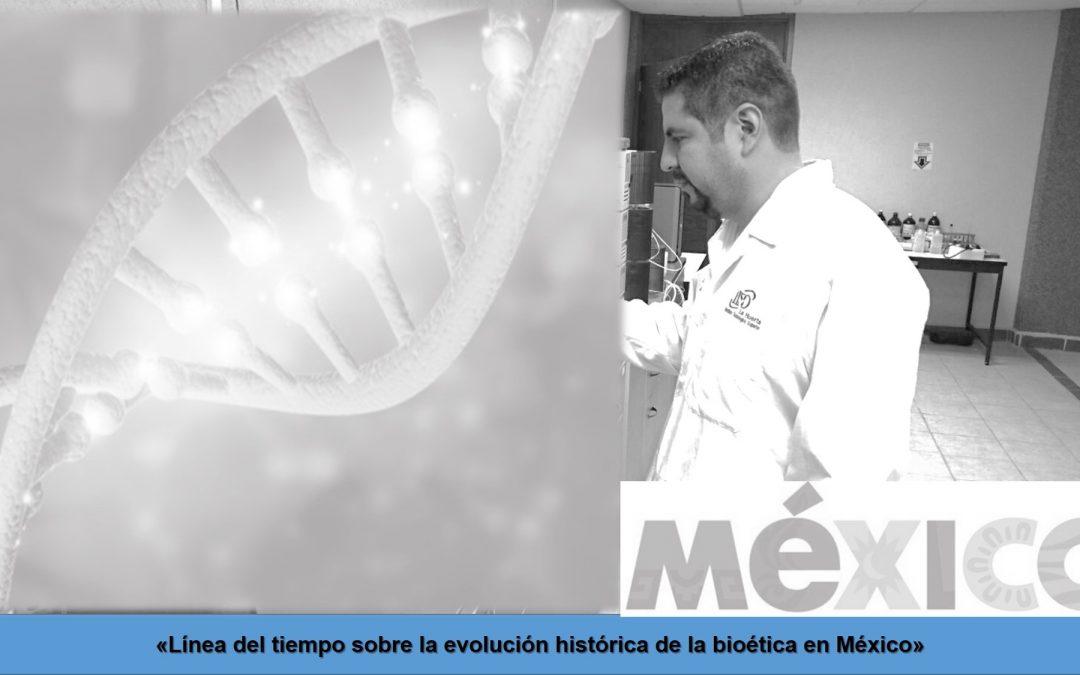 Línea del tiempo sobre la evolución histórica de la bioética en México