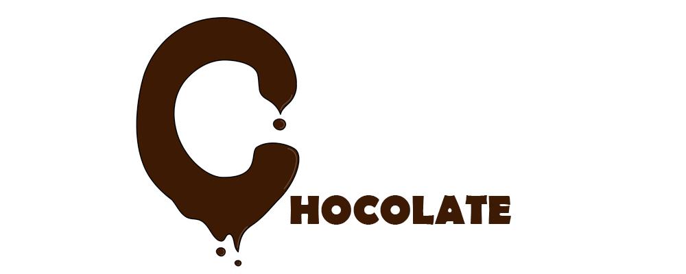 Capitular C de chocolate derretida