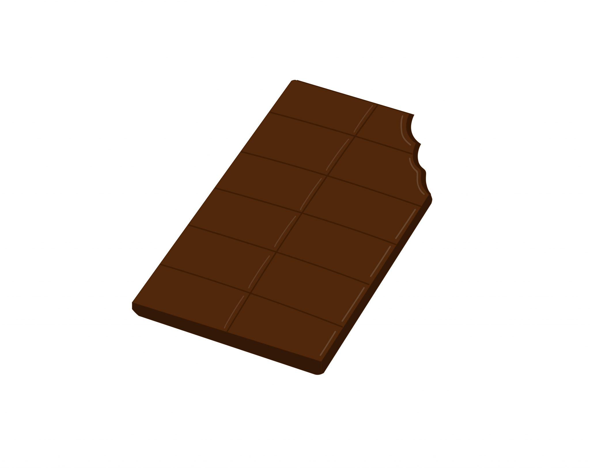 Tableta de chocolate mordisqueada