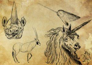 Unicornios y doncella