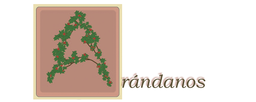 Capitular A ilustrada con una rama enrrollada en la A