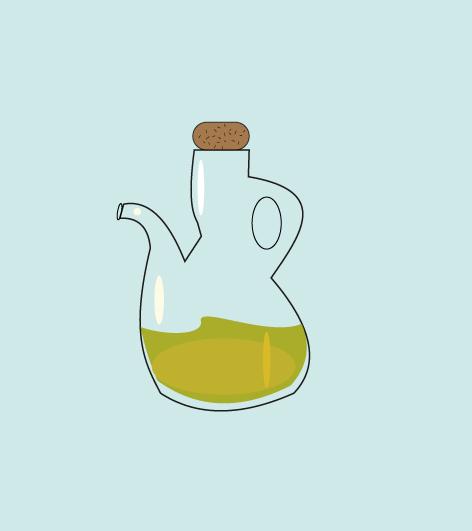 Ilustración de una aceitera de cristal