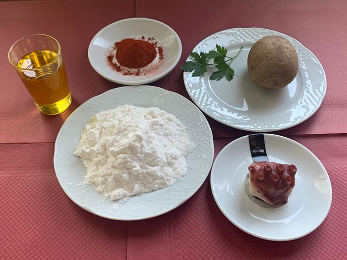 ingredientes aceite maltosado y pulpo