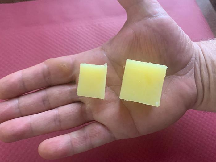 patatas con forma de cubo